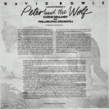 Bowie, David : Peter and the Wolf : Original Insert Front