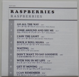 Raspberries - Raspberries, Lyric book