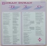 Duran Duran - Rio, Inner sleeve side B