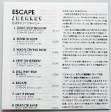 Journey - Escape, Lyric Book