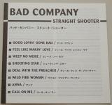 Bad Company - Straight Shooter, Lyric book