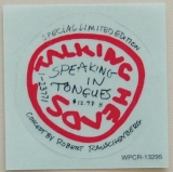 Talking Heads - Speaking In Tongues (+2), Sticker