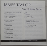 Taylor, James - Sweet Baby James, Lyric book