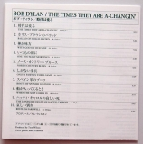 Dylan, Bob - Times They Are A-Changin', Lyric sheet