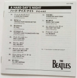 Beatles (The) : A Hard Day's Night [Encore Pressing] : JP-EN Booklet