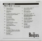 Beatles (The) - Abbey Road [Encore Pressing], JP-EN Booklet