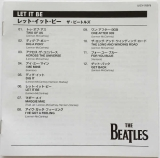 Beatles (The) : Let It Be [Encore Pressing] : JP-EN Booklet