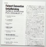 Fairport Convention - Unhalfbricking +2, Lyric book