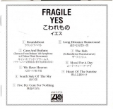 Yes - Fragile,