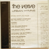 Verve - Urban Hymns, Lyrics sheet