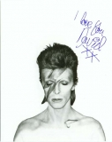 Bowie, David - Aladdin Sane, Fan club application card (front)