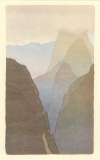 Schmidt, Peter - Brian Eno's Before and After Science Lithographs, The Road to the Crater - Peter Schmidt