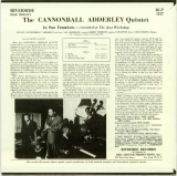 Adderley, Cannonball (Quintet) - in San Francisco +1, Back cover