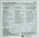 Ryan, Collie - The Rainbow Recordings (1973), 4 page inner track listing and liner notes