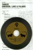 Emerson, Lake + Palmer - Tarkus,  CD and Insert