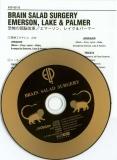 Emerson, Lake + Palmer - Brain Salad Surgery,  CD and insert