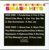 Hendrix, Jimi - Smash Hits (UK), Back cover