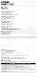Angel - White Hot, Foldout lyrics sheets