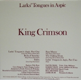 King Crimson - Larks' Tongue In Aspic, Back  Cover