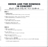 Derek + The Dominos - In Concert, booklet
