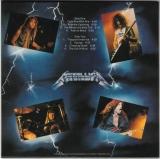 Metallica - Ride The Lightning , Back