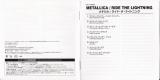 Metallica - Ride The Lightning , Japanese Booklet