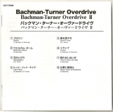 Bachman-Turner Overdrive - Bachman-Turner Overdrive II, Booklet
