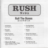 Rush : Roll The Bones : booklet