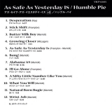 Humble Pie : As Safe As Yesterday Is)(+2 : Insert