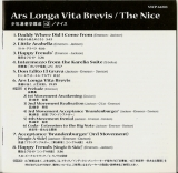 Nice (The) : Ars Longa Vita Brevis)(+2 : Front of Booklet