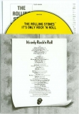 Rolling Stones (The) - It's only Rock 'n Roll, Inner sleeve, CD and insert