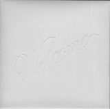 Santana - Welcome, Scan of embossed cover in black white with increased contrast