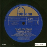 Tears For Fears - The Seeds Of Love +4, original label front
