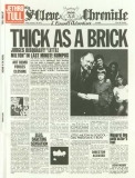 Jethro Tull - Thick As A Brick +2, St Cleve Chronicle - Front Page