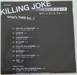 Killing Joke - What's This For...!, Lyric book
