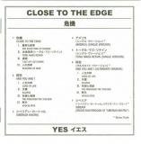 Yes - Close To The Edge (+4), Black and white lyrics / translation booklet