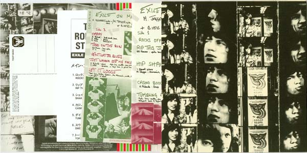 Inside gatefold right and full contents, Rolling Stones (The) - Exile on Main Street