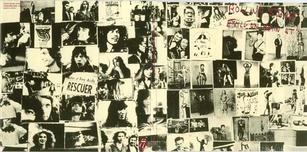 Open gatefold cover, Rolling Stones (The) - Exile on Main Street