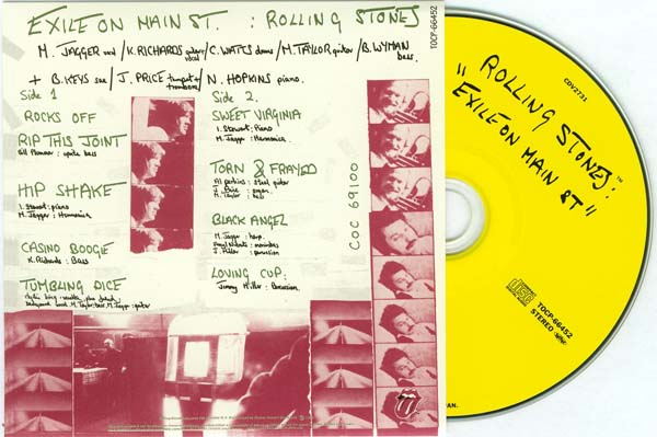Inner sides 1 and 2 with CD, Rolling Stones (The) - Exile on Main Street