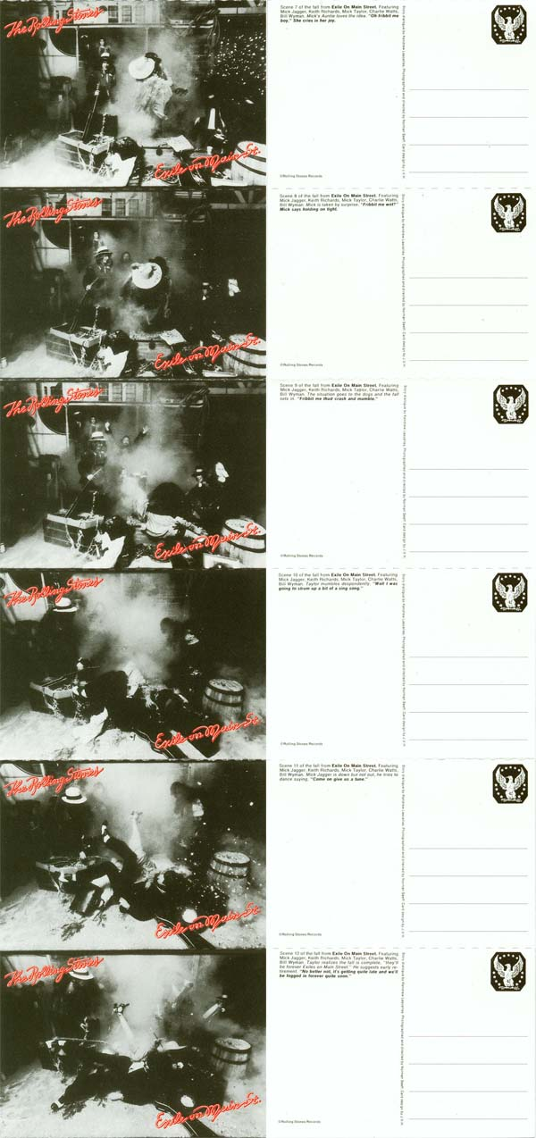 Postcards 7 to12 - front and back, Rolling Stones (The) - Exile on Main Street