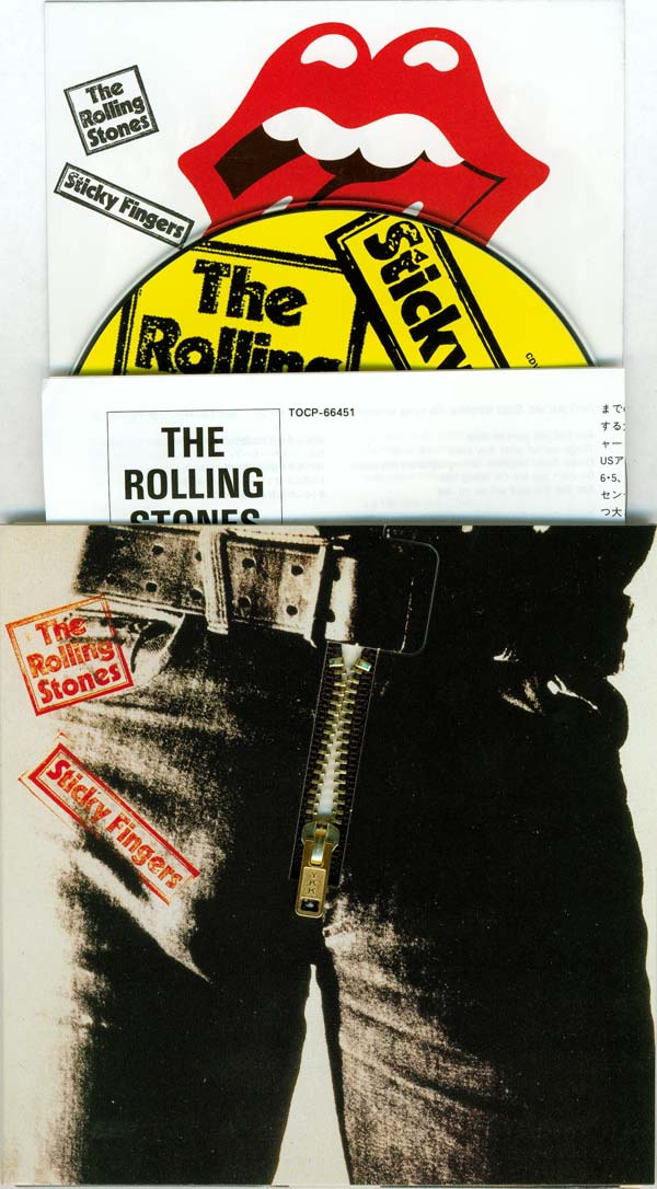 Cover (no obi - zipper down) and inserts (top loading), Rolling Stones (The) - Sticky Fingers