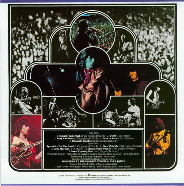 Back cover, Rolling Stones (The) - Get Yer Ya-Ya's Out!