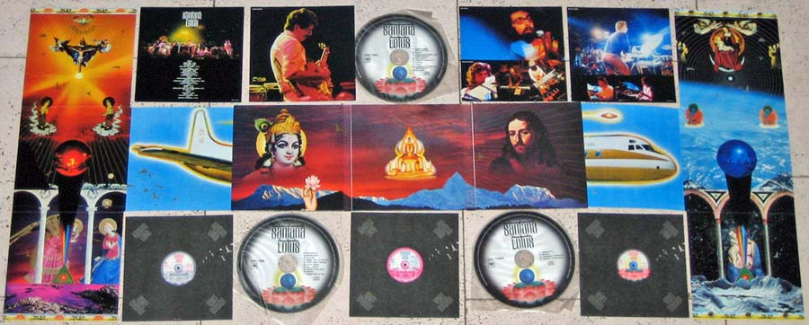 Open cover with selected (most) inserts and CDs, Santana - Lotus