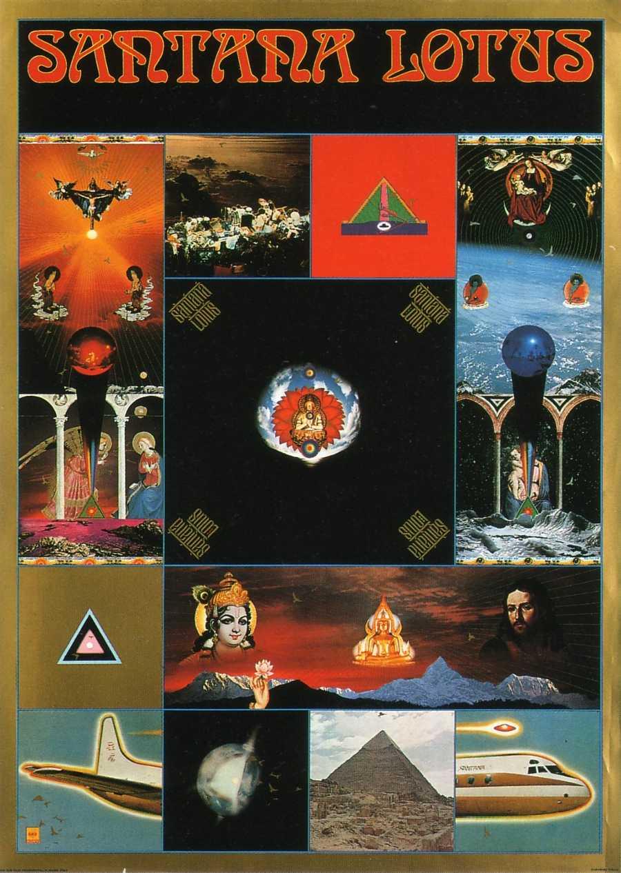Poster in colour, Santana - Lotus