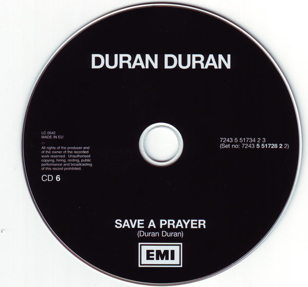 CD6 [Disc], Duran Duran - The Singles 81-85 Boxset