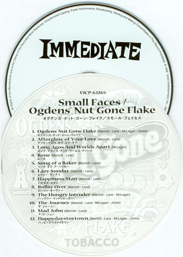 CD and insert, Small Faces - Ogdens' Nut Gone Flake