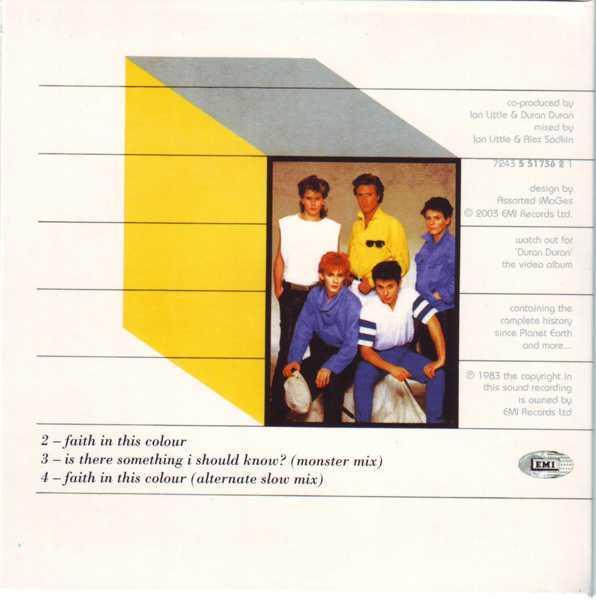 CD8 Sleeve [Back], Duran Duran - The Singles 81-85 Boxset
