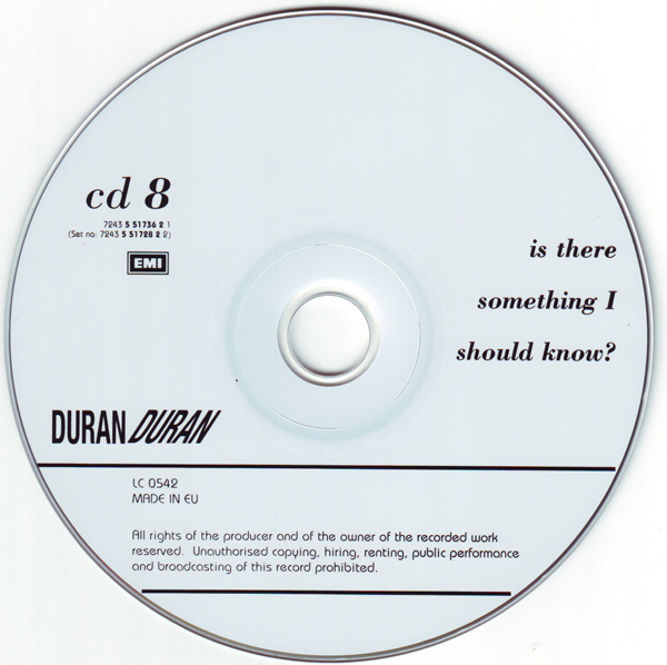 CD8 [Disc], Duran Duran - The Singles 81-85 Boxset