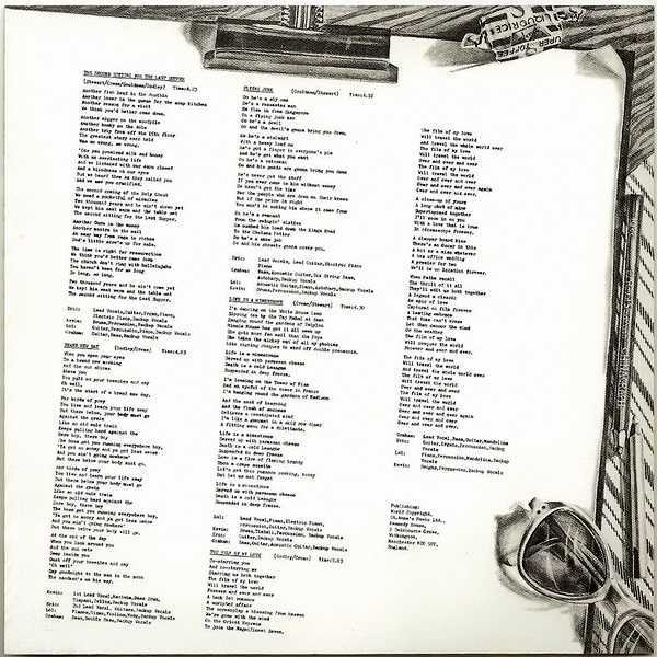 Lyric Sheet (as original) - side 1, 10cc - The Original Soundtrack  (+4)