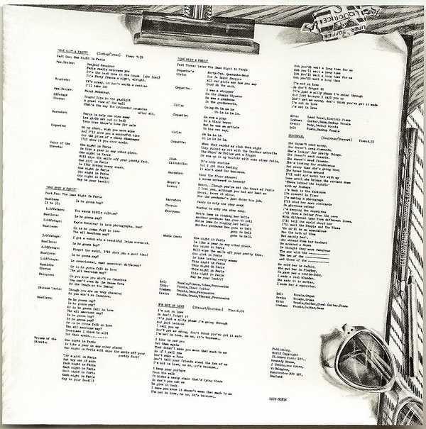 Lyric Sheet (as original) - side 2, 10cc - The Original Soundtrack  (+4)